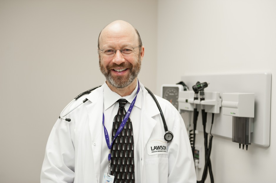 Dr. Michael Silverman poses for a photo in his clinic.