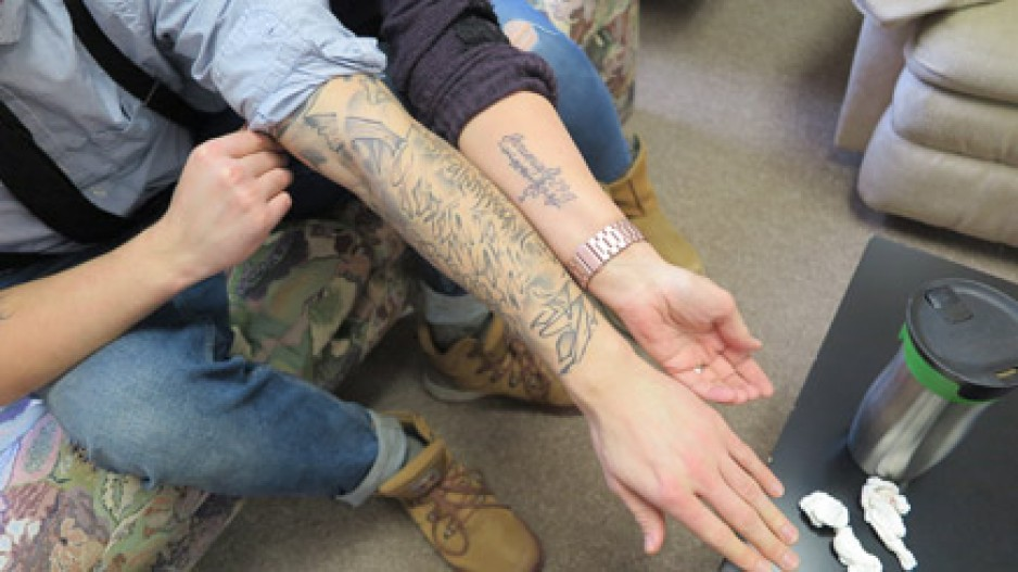 photo of arm tattoos