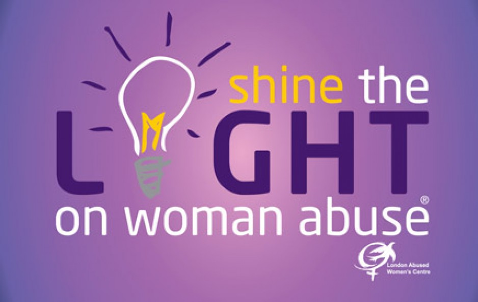 Logo for Shine the light on Woman abuse